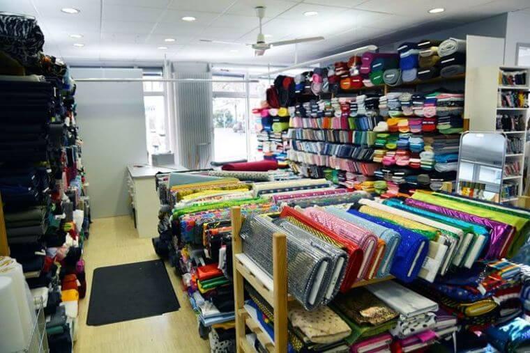 große Stoffauswahl im Ladengeschäft in Lindenberg